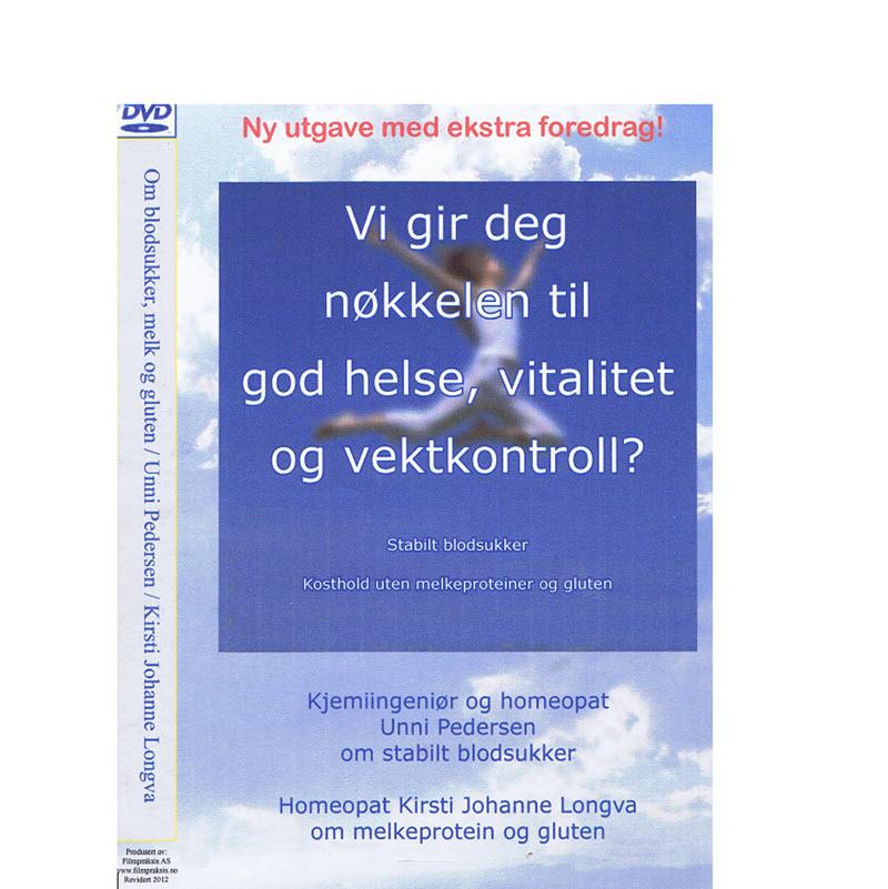 DVDen Stabilt blodsukker og Glutenog melk - to lærerike foredrag.